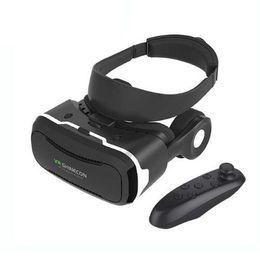 бесплатный vr-картон Скидка 2017 VR Shinecon 4.0 Виртуальная реальность 3D-очки Гарнитура VRBOX + наушники Стерео / Микрофон / Кнопка управления для мобильного смартфона 4.7-6.0 дюймов