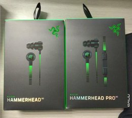 Wholesale Razer Hammerhead - Razer Hammerhead V2 pro V2 Headphone in ear earphone With Microphone With Retail Box Gaming headsets Noise Isolation Stereo Bass 3.5mm DHL