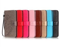 Wholesale Credit Card Book - Fashion PU Leather Book Wallet Cover with Credit Card ID Slot Holder Wrist Strap for Iphone 6 7 7 plus Samsung S6 S7 S7 edge
