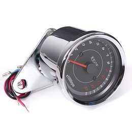 Wholesale Motorcycle Odometer Speedometer Tachometer - High Quality Motorcycle Speedometer Tachometer Odometer Rev Counter 0-13000 RPM AUP_303
