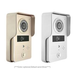 Wholesale Video Intercom Id - Wireless Wifi Video Intercom Door Bell System with Mini Bell and 4 PCS ID Keyfobs Wireless Visual intercom Video door phone doorbell