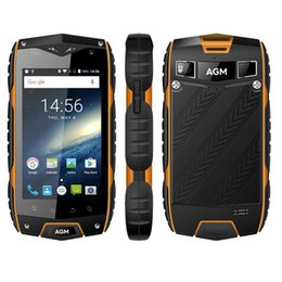 Wholesale A7 4g - AGM A7 IP68 Waterproof 4G LTE Rugged Smartphone 4.0 Inch Android 6.0 Quad Core 2GB RAM 16GB ROM 2930mAh