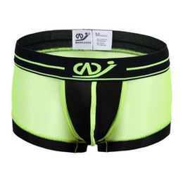 Wholesale Gay Mens Underwear Brands - New Boxer Men's Sexy Brand Boxer Shorts Transparent Charming Gauze Nylon Mens Boxers gay underwear S M L XL