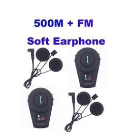 Wholesale Wholesale Motorcycle Speakers - Soft Earphone! 2PCS FDC-VB 500M Waterproof Motorcycle BT Interphone Helmet Intercom Headset bluetooth speaker motorcycle
