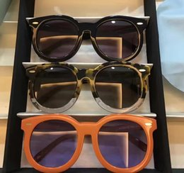 Wholesale Super Tortoise - 2017 Women Walker Sunglasses Super Duper Thistle Crazy Tortoise Clear Sunglasses Round Frame Brand New with Case Box