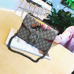 Wholesale Handbag Printed - Luxury Brand Women Handbags Famous Designer printing Shoulder Crossbody Bags For Women National style embroidery bee Bags 2017 NEW