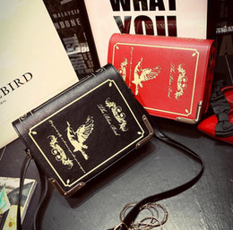 Wholesale Red Dictionary - Dictionary bag 2017 new retro printing dictionary female bag shoulder oblique cross-style stereotypes large capacity purse