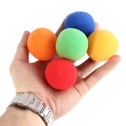 Wholesale Magic Sponge Size - Wholesale- 5pcs set Close Up Magic Street Classical Comedy Trick Soft Sponge Balls 4.5cm large size