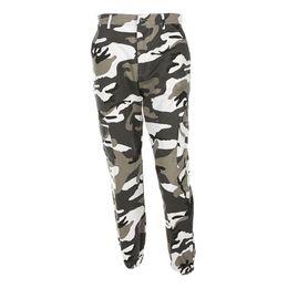 Wholesale Woman Fashion Camouflage Pants - Women Camouflage Pants Casual Pink Camo Sweatpant Fashion Harem Autumn Winter Jeans High Waist Loose Ladies Trousers