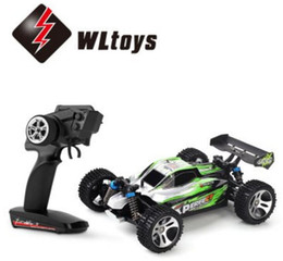 Wholesale Wltoys Rc Buggy - Wholesale- WLtoys A959-A 390 Brushed Motor 2.4GHz 2CH 1:18 4WD Buggy Off-road RC Car 35KM H - RTR VS a959 a959-b a969 a969-b a979 a979-B