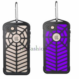 Wholesale Dust Covers For Cell Phones - Spider Phone Cases Isolated Dirt And Dust Waterproof Durable For Military Use Case Cover Spider Pattern Cell Phone Cases For Iphone 7 7 Plus