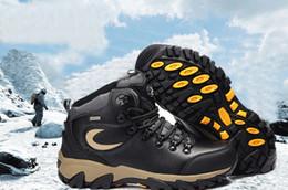 Wholesale Warm Waterproof Winter Sneakers - XIANGGUAN Outdoor Waterproof Hiking Shoes For man Climbing Mountain Trekking Sneakers winter Warm men merel Wear Resistant 01