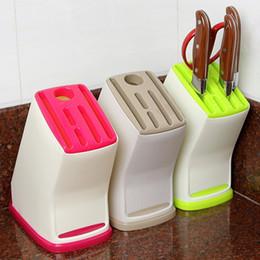 Wholesale Home Kitchen Supplies - Best Sale Knife Block Multifunction Knife Shelving Rack Home Storage Tool PP Plastic Kitchen Knives Holder Kitchen Supplies