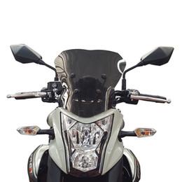 parabrezza bmw Sconti Parabrezza Moto WindScreen Per Kawasaki ER-6N 12 13 14 15 16 ER6N 2012 2013 2014 2015 2016 Airflow Wind Protezione per zanzariera Protezione Deflettore