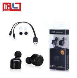 Wholesale Smart Phone Headset - X1T Mini Wireless Bluetooth Stereo Voice Earphones In-ear With Bluetooth Version 4.2 For Smart Phone