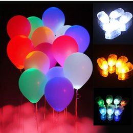 Wholesale Floral Celebrations - 2017 New 10pcs Lot Colorful LED Balloon Lights Lamps Paper Floral Lanterns Lamp For Xmas Wedding Birthday Celebration Party Decoration