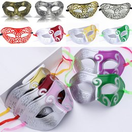 Wholesale Masquerade Mask Knight - 2017 Masquerade Masks Halloween Christmas Fancy Dress Plastic Half Face Party Mask Knight Prince Masks Mardi Gras Gifts WX9-74