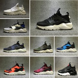 Wholesale Table Size Shoes - 2016 New Design Air Huarache 4 All Red Mesh Huraches Sneakers Ultra Breathe Men And Women Huaraches Running Shoes Size 36-44