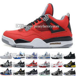 Wholesale Money Split - New retro 4 basketball shoes black Royalty white pure money Oreo fear pack bred white cement green glow alternate motorsports men GS Shoes
