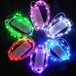 Iluminação de cobre vermelho on-line-CR2032 bateria operado 2 M 20LEDS micro led corda de fada luz de Fio De Cobre corda levou feriado luz decorações vermelho morno branco branco verde