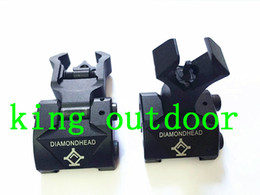 Wholesale Rail Float - Diamondhead DIAMOND Iron Sight Flip-Up Rear Front Sight Folding Iron Sights for Drop-In Free-Floating Handguards Picatinny Rail