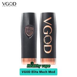 Wholesale Mech Mod Vaporizer Kit - Original VGOD Elite Series Mech Mod fit Trick Pro Tank Vaporizer VS VGOD Pro Mod Mech Kit Black Color