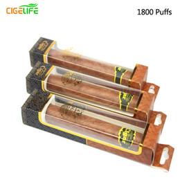 Wholesale Cigar Pen Kits - High quality Disposable Cigar 1800 Puffs Electronic Cigarette Kit E Cigars E Cig hookah pen Vapor Powerful Vaporizer Better Than E Shisha