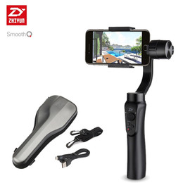 Wholesale ZHIYUN Smooth Q smartphone Handheld Axis gimbal stabilizer action camera selfie phone steadicam for iphone Sumsung Gopro SJCAM