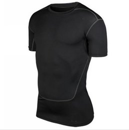 Wholesale Men S Under Wear - S-XXL Men's Short Sleeve Compression Shirt Base Layers Under Tops Skins Gear Wear Casual T-Shirts Jersey Tee Tops