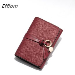 Wholesale Card Cute Design - Wholesale Brand Fashion Women Wallet Middle Design Circle Pedant Fringe Genuine Leather Cute Lady Wallet Purse with Credit Card Holder