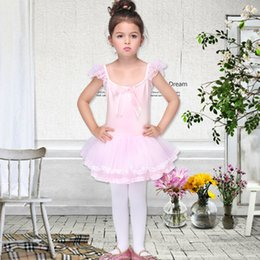 Wholesale Tights Skirt One Piece - new style lovely Children's costumes ballet skirt suits girls performing costumes festive tight clothes one-piece skirts