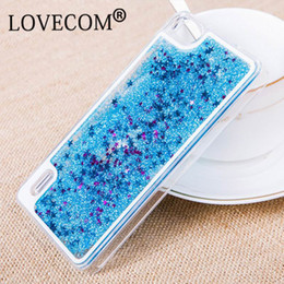 Wholesale Star Phone Batteries - New Glitter Stars Dynamic Liquid Quicksand Hard Case Cover Coque Shell For Huawei P8 P9 Transparent Clear Phone Case
