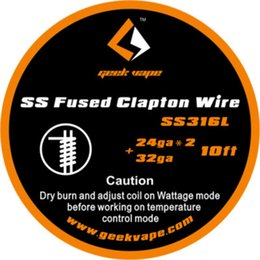 100% Original 10ft GeekVape SS Clapton SS316 fusionné fil de bande / A1 fil de Clapton fondu fil DIY pour RDA RBA cigarette électronique ? partir de fabricateur