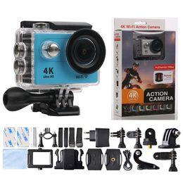 Wholesale Dive Cam - Original EKEN H9Rse 4K Action camera Cam With Remote 12MP WiFi 2.0inch Waterproof H9SE Helmet Sport camera dhl shipping