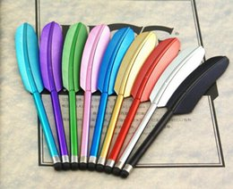 Wholesale iphone accessories bundles - Legend Feather Universal Stylus Touch Pen For iPhone 3GS 4G 4S iPod iPad 50pcs Colorful
