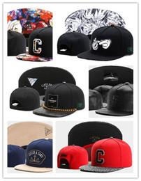 Wholesale Leather Baseball Caps For Men - Hot Swag brand Cayler Sons brown Leather Snapback hip hop sport cap baseball hat for men women bones snapbacks bone gorras high quality