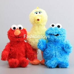 Wholesale Animal Elmo - Cartoon Sesame Street Elmo Cookie Monster Big Bird Plush Toy Soft Stuffed Animal Doll Toys for KidsGift Hot Sale EMS