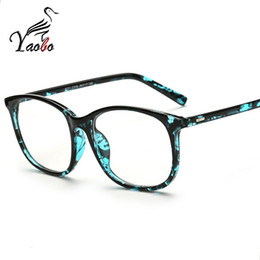 816fe399128 Yaobo 2017 fashion big glasses frame men women retro vintage decorative  frames without lenses square glass frame oculos de grau
