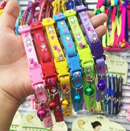 Wholesale Canvas Basic - Easy to clean canvas, pet dog, collar, rabbit, cat, dog, bell collar, high quality color buckle, bell, the color is very good, suitable for