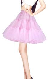 Wholesale Black Pettiskirt For Girls - 2017Free Shipping Wedding Petticoats Short Girls Skirt Pettiskirt Womens Fluffy Crinoline Vintage Petticoats Tutu Skirt For Girls