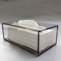 plastic acrylic sheets Coupons - Wholesale-Facial Acrylic Tissue Box, Tissue Holder, Tissue Dispenser with Magnetic Cover