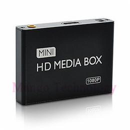 Wholesale Tv Box Multimedia Player - Wholesale- 2016 mini HDMI Media Player 1080P HDD-HDMI Full HD TV Video multimedia player box support MKV RM-SD USB SDHC MMC