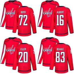 Wholesale Lars Eller Jersey - 2018 2017 New Brand Mens Washington Capitals 72 Travis Boyd 16 John Albert 20 Lars Eller 83 Jay Beagle Red Custom Hockey Jerseys