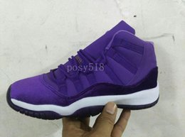 Wholesale Gs For Sale - 2017 New 11 GS Purple Velvet 11s Heiress Men Basketball Shoes Women Night Maroon Black Blue Velvet Cheap Sneakers For Sale