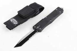 Wholesale Auto Tech - NEW 2 styles MICRO TECH Pocket knife auto tactical folding blade knives Single edged knife camping EDC knife