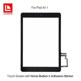 Wholesale Install Assembly - For iPad Air iPad 5 Touch Screen Glass Digitizer Assembly with Home Button with Adhesive Glue Sticker Installed Replacement Repair Parts
