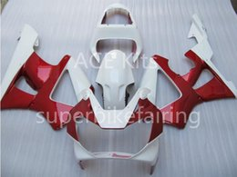 Wholesale Honda Cbr 929 Fairings Red - 3 free gifts Motorcycle Fairing kit For HONDA CBR900RR 00 01 CBR 900RR 929 2000 2001 ABS Fairings set White Red AS12