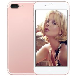 Wholesale Sim Card 8gb - ERQIYU 5.5inch Goophone i7 i7 Plus V2 3G Quad Core MTK6580 1GB 8GB Android 6.0 shown 64GB 4G LTE Unlocked Smartphone