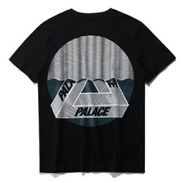 Wholesale Cotton Curtains - 2017 summer palace skateboards Tri Curtain SS street fashion short sleeve T-Shirt