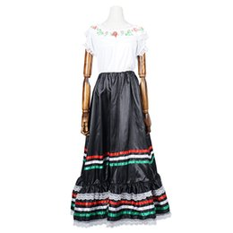 Wholesale Dance Stage Costume - Flower National Dress Long Dress Costume Dance Dress Bohemian Sundress Halloween cosplay stage clothing fashionable stage costume